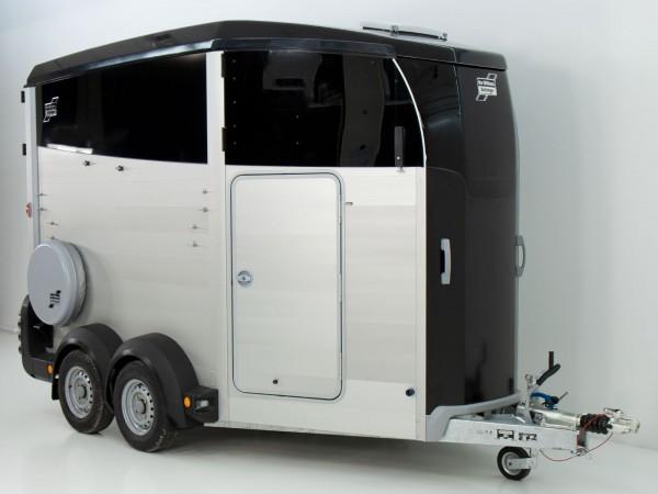 Pferdeanhänger HBX 506 mit Sattelkammer neues Modell schwarz