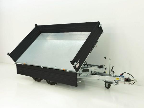 Dreiseitenkipper PDK *Stahlbordwände schwarz* 176x310cm 3,5t|E-Pumpe|Pongratz