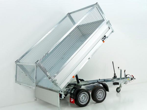 Heckkipper PK 2500 151x260cm 2,5t|Handpumpe|Gitter|Pongratz