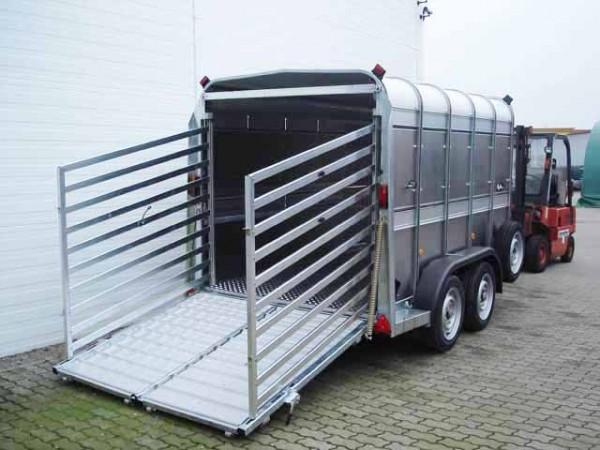 Viehanhänger TA 510 G10x6 178x301 3,5t Rampe/Tür