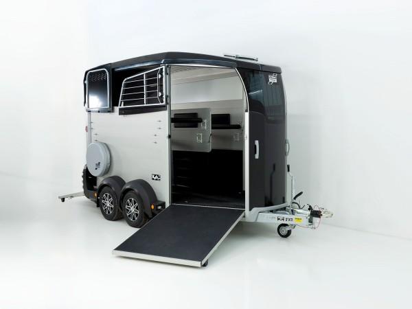Pferdeanhänger HBX 506 mit Frontausstieg neues Modell schwarz