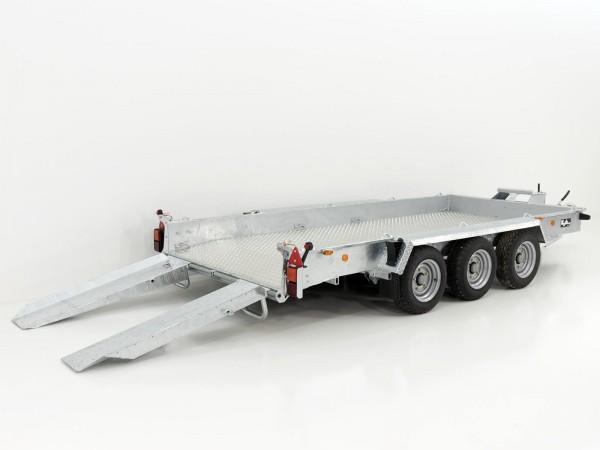 Baumaschinenanhänger GH146 Skids 184x419cm 3,5t Alu Boden 3 Achser