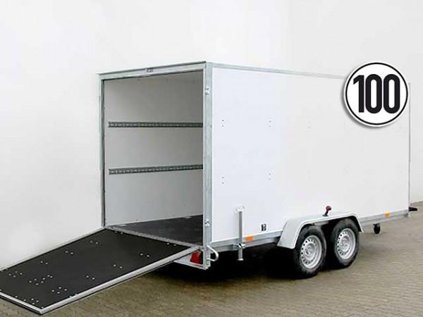 Kofferanhänger BK 200x400cm Höhe:190cm 2,7t 100kmh Rampe