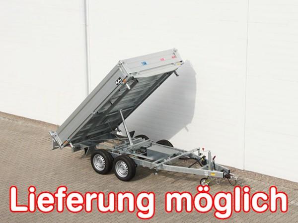 Dreiseitenkipper UDK Profi 175x306cm 3,0t E-Pumpe+Rampentunnel