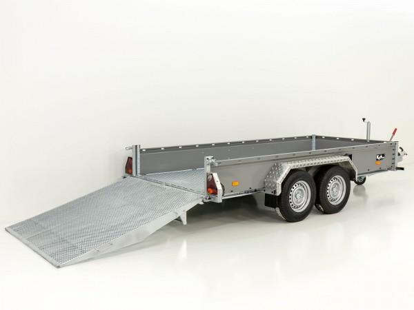 Baumaschinenanhänger BA 155x300cm 3,5t|SB mit Rampe|Vezeko