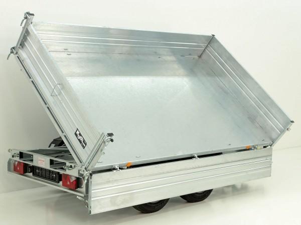 Dreiseitenkipper PDK *Stahlbordwände* 176x360cm 3,5t E-Pumpe