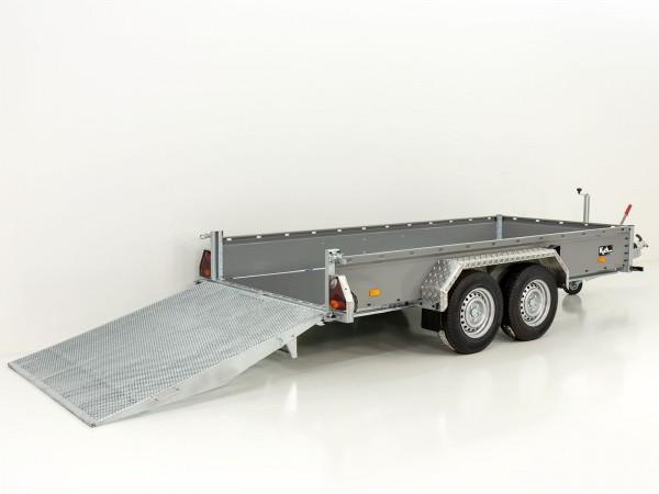 Baumaschinenanhänger BA 155x360cm 3,5t HB Rampe Vezeko
