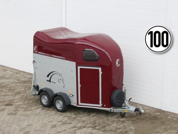 Pferdeanhänger GOLD 2 Alu +Pullman Fahrwerk +Sattelkammer, rot