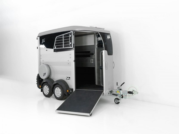 Pferdeanhänger HBX 403 mit Frontausstieg neues Modell silber
